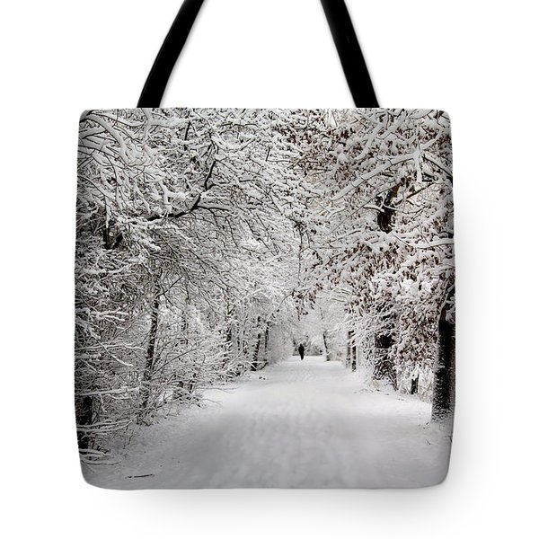 Winter Walk In Fairytale  Tote Bag