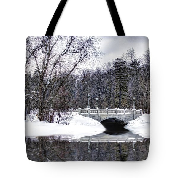 Winter Walk Tote Bag by Skip Tribby