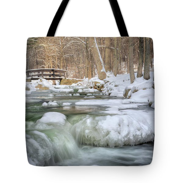 Tote Bag featuring the photograph Winter Water by Bill Wakeley