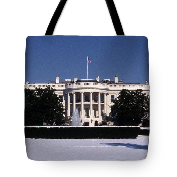 Winter White House  Tote Bag by Skip Willits
