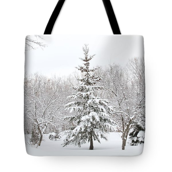 Winter White-out Tote Bag