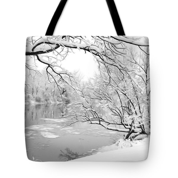 Winter Wonderland In Black And White Tote Bag