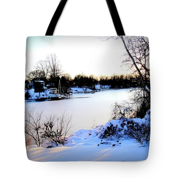 Winter Wonderland  In Maryland Usa Tote Bag