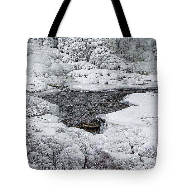 Tote Bag featuring the photograph Vermillion Falls Winter Wonderland by Patti Deters