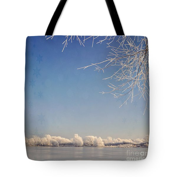 Winter Wonderland With Snowflakes Decoration. Tote Bag by Lyn Randle