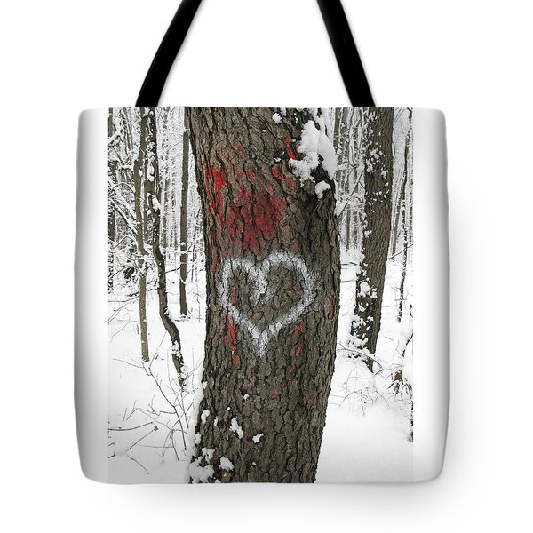 Winter Woods Romance Tote Bag