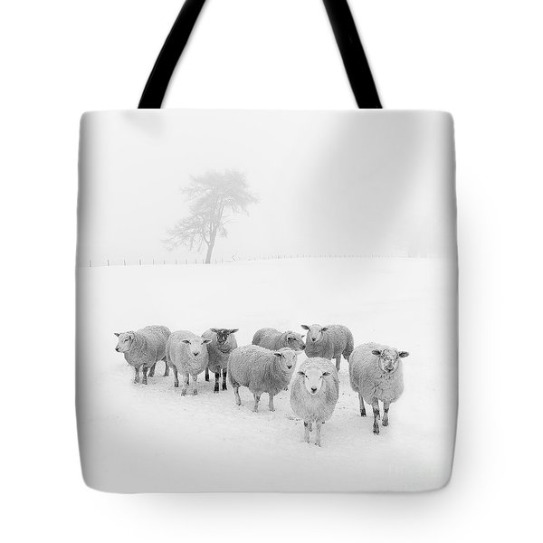 Winter Woollies Tote Bag by Janet Burdon