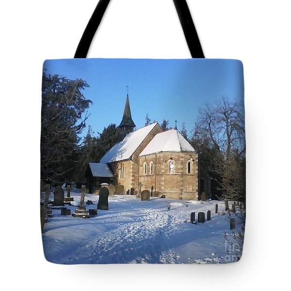 Winter Worship Tote Bag