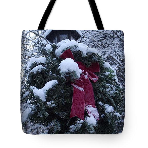 Winter Wreath Tote Bag