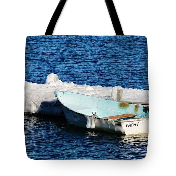 Winter Yacht Tote Bag
