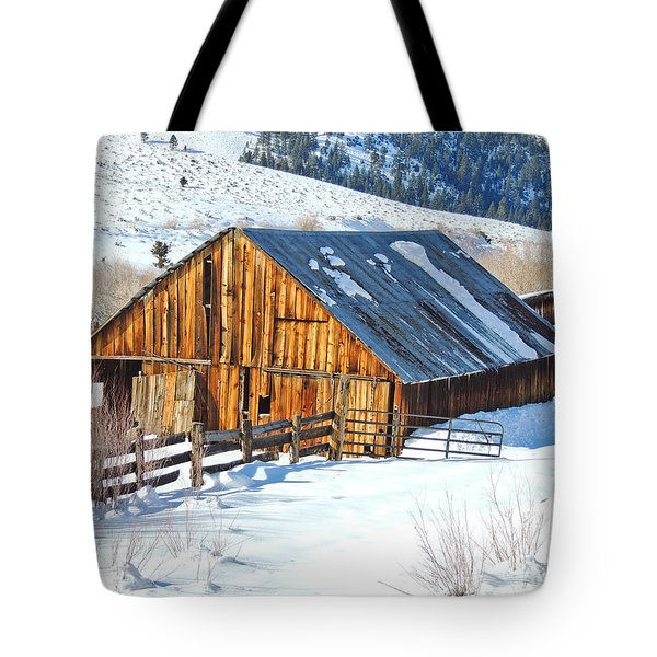 Wintering Range Barn Tote Bag