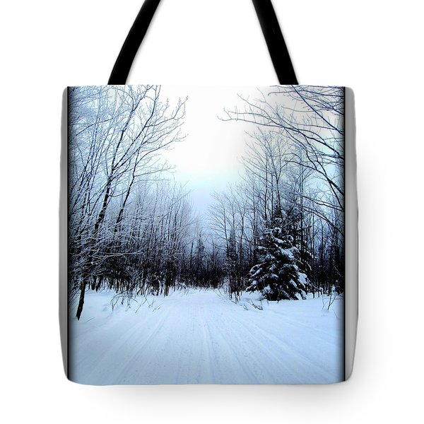 Tote Bag featuring the photograph Winterlude In Abitibi Temiscamingue Quebec  by Danielle  Parent