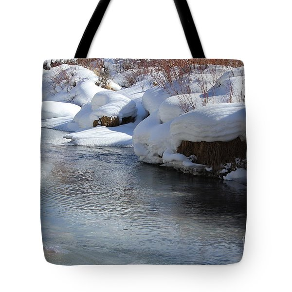 Tote Bag featuring the photograph Winter's Blanket by Fiona Kennard