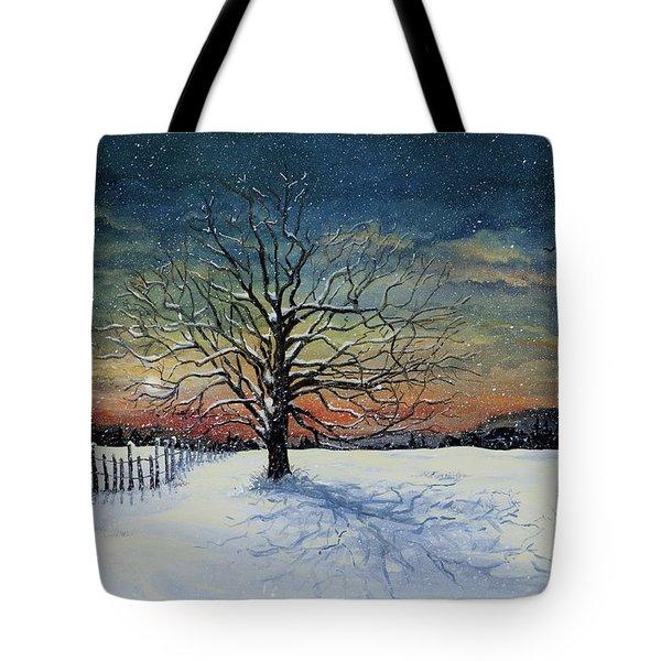 Winters Eve Tote Bag