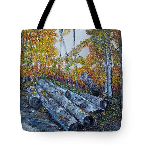 Winter's Firewood Tote Bag