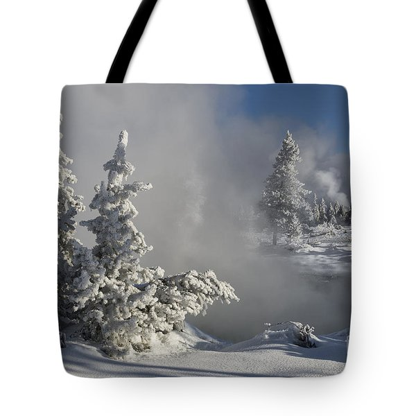 Winter's Glory - Yellowstone National Park Tote Bag by Sandra Bronstein