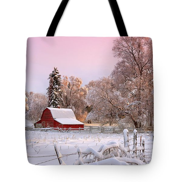 Winters Glow Tote Bag