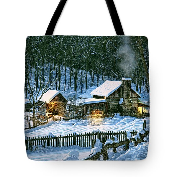 Winter's Haven Tote Bag