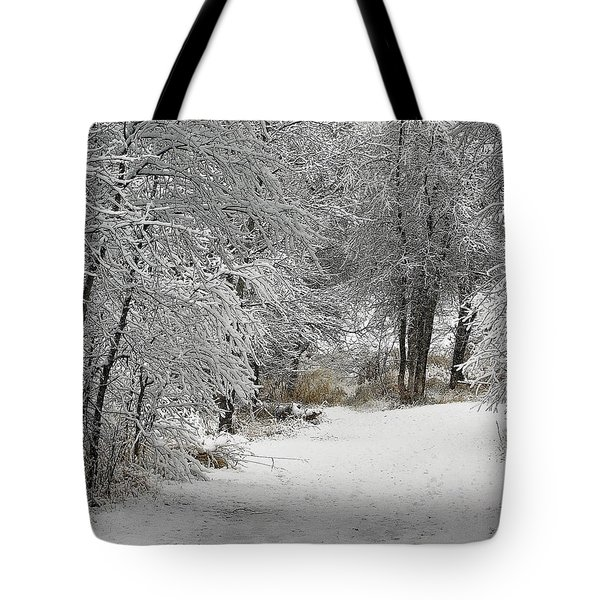 Tote Bag featuring the photograph Winter's Kiss by Don Schwartz