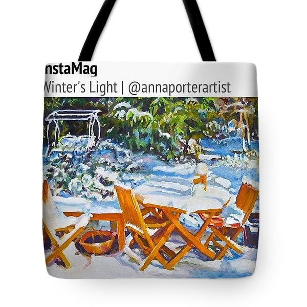 Winter's Light Tote Bag by Anna Porter