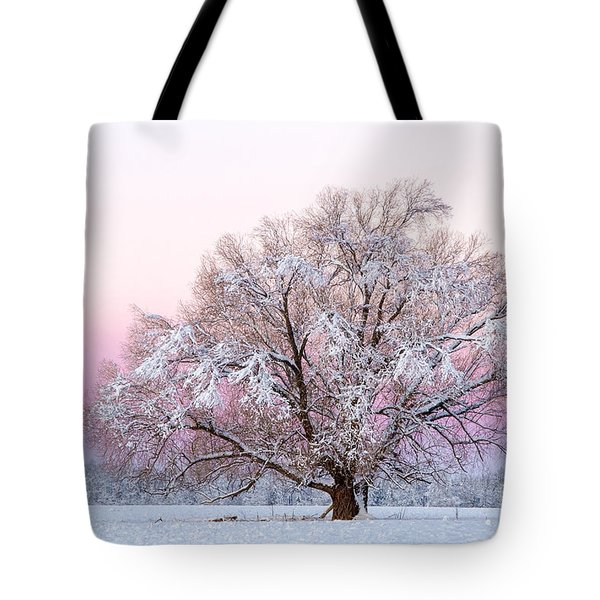Winter's Majesty Morning Tote Bag