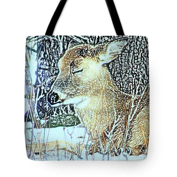 Winter's Nap Tote Bag by Torie Tiffany