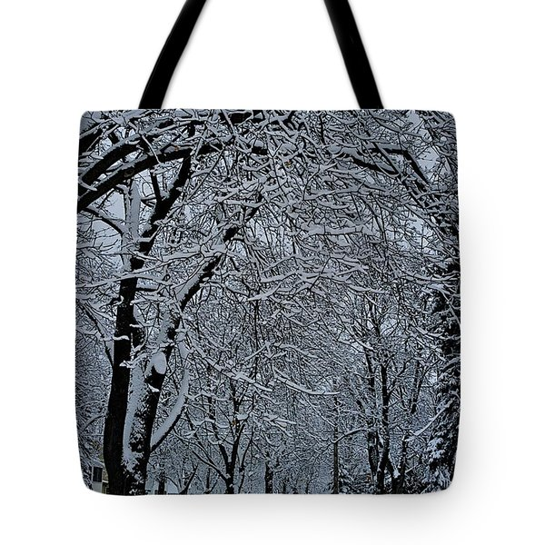 Winter's Work Tote Bag by Joseph Yarbrough