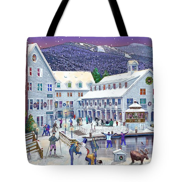 Wintertime At Waterville Valley New Hampshire Tote Bag