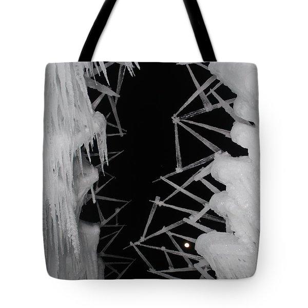 Wintery Ice Farming  Tote Bag