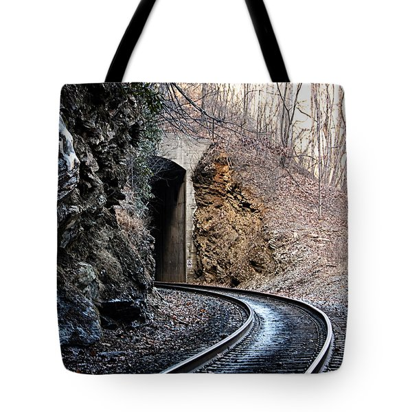 Wintery Tunnel Tote Bag
