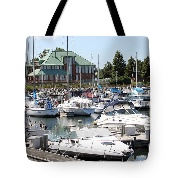 Tote Bag featuring the photograph Winthrop Harbor by Debbie Hart