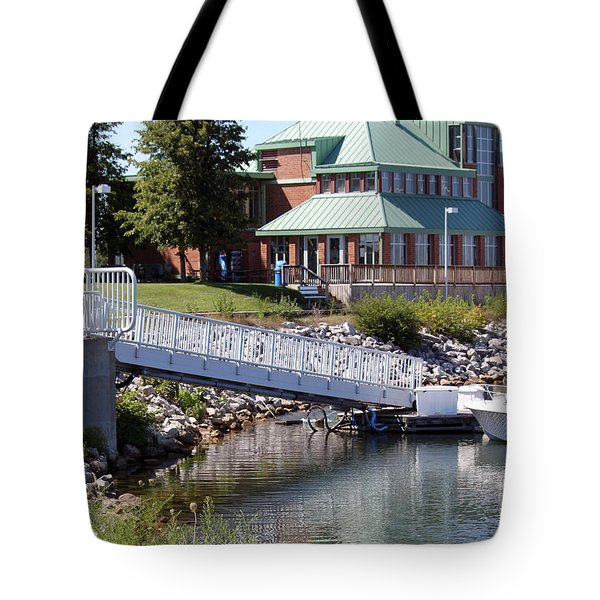 Tote Bag featuring the photograph Winthrop Harbor Shore by Debbie Hart
