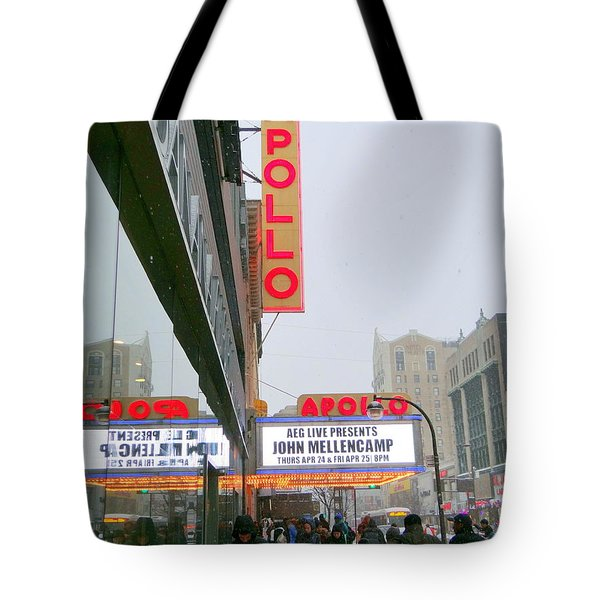 Wintry Day At The Apollo Tote Bag by Ed Weidman
