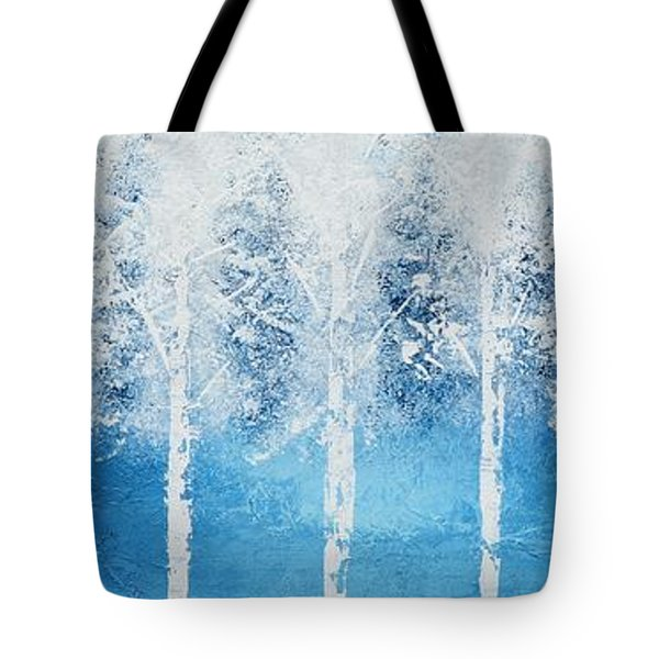 Wintry Mix Tote Bag by Linda Bailey