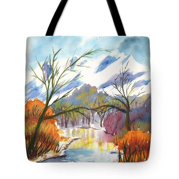 Wintry Reflections Tote Bag