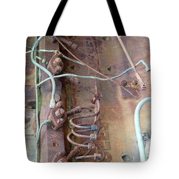 Tote Bag featuring the photograph Wired by Newel Hunter