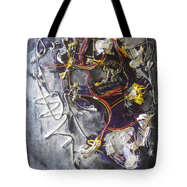 Tote Bag featuring the painting Wirefly by Lucy Matta
