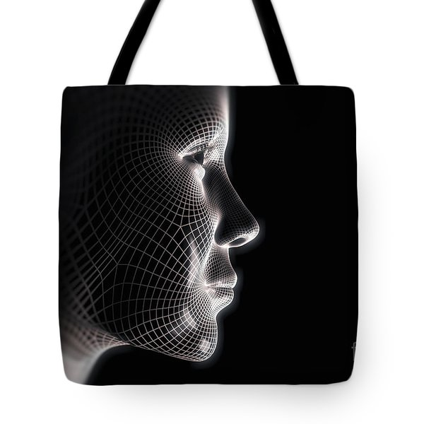 Wireframe Face Female Tote Bag