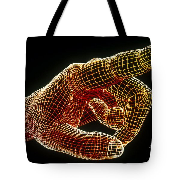 Wireframe Hand Tote Bag