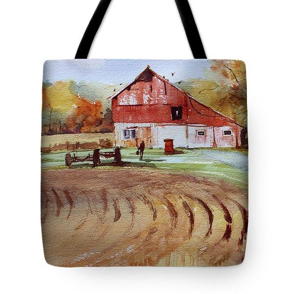 Wisconsin Barn Tote Bag