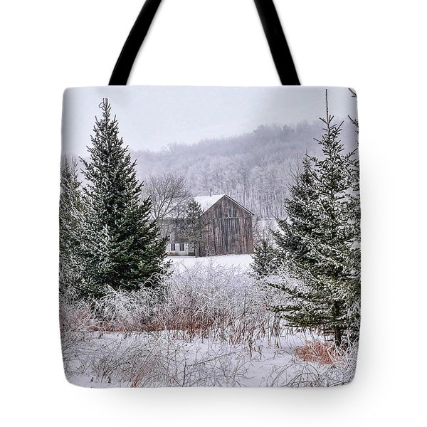 Wisconsin Frost Tote Bag by Trey Foerster