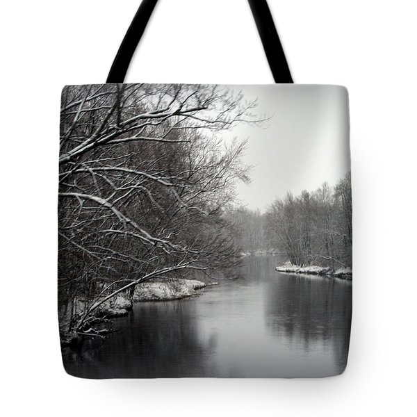 Wisconsin River Tote Bag by Kay Novy
