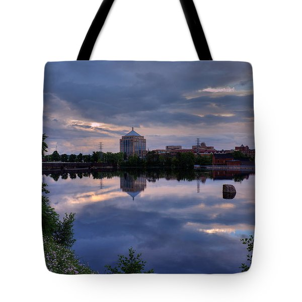 Wisconsin River Reflection Tote Bag