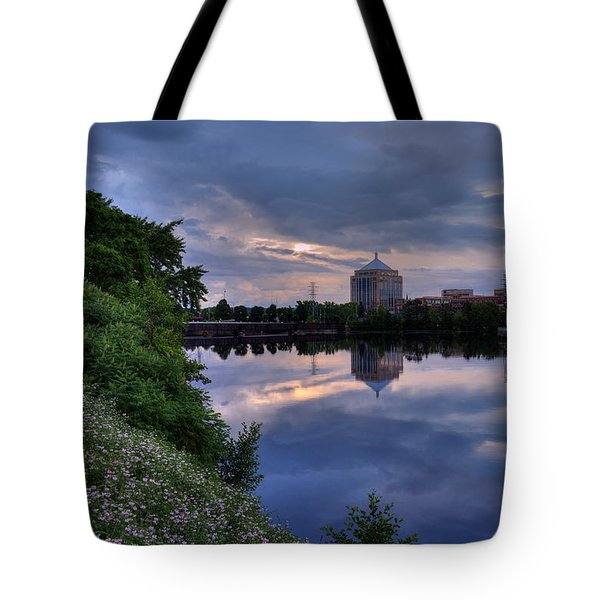 Tote Bag featuring the photograph Wisconsin River Reflection by Dale Kauzlaric