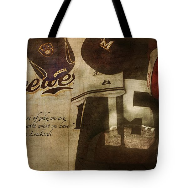 Wisconsin Sports Tote Bag