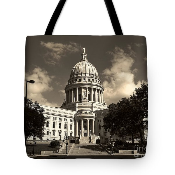 Wisconsin State Capital Building Tote Bag by Clare VanderVeen