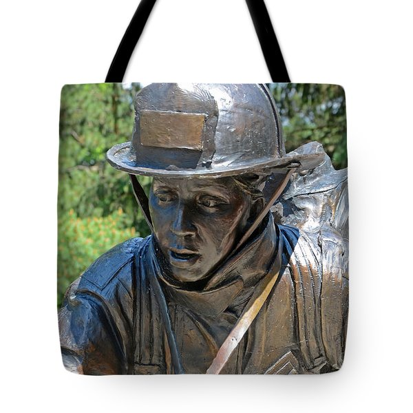 Tote Bag featuring the photograph Wisconsin State Firefighters Memorial 3  by Susan  McMenamin