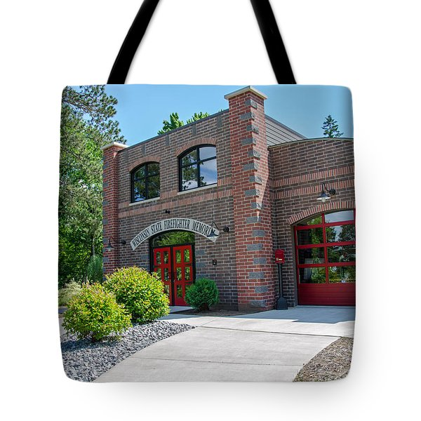 Tote Bag featuring the photograph Wisconsin State Firefighters Memorial 6 by Susan  McMenamin