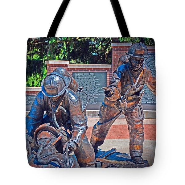 Tote Bag featuring the photograph Wisconsin State Firefighters Memorial Park 2 by Susan  McMenamin