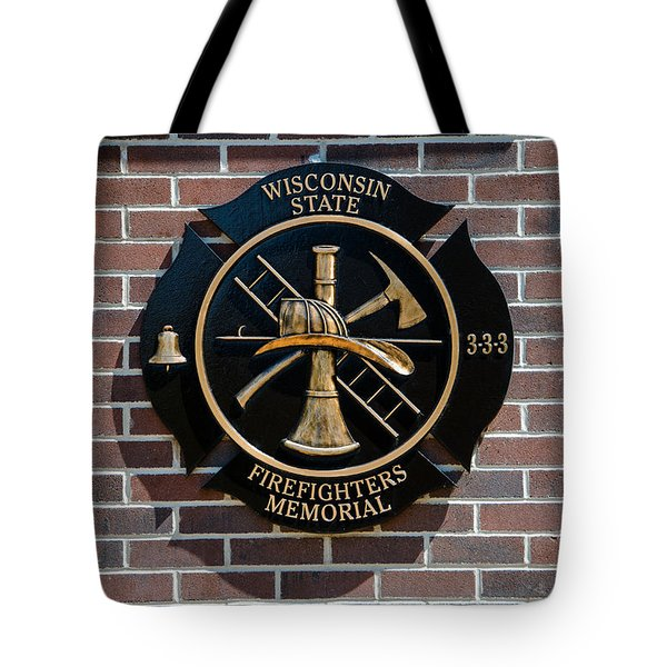 Tote Bag featuring the photograph Wisconsin State Firefighters Memorial Park 5 by Susan  McMenamin